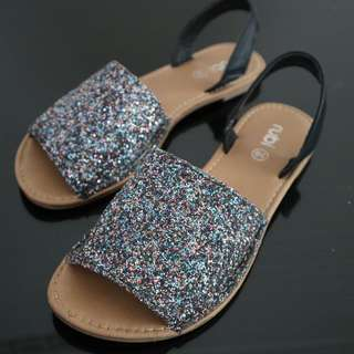 Rubi Glittery Flat Shoes
