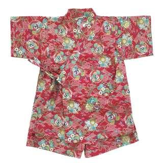 Okiddo Kimono Kuren Round Set (Golden Red)