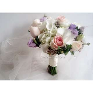 Beautiful Pastel Romance bridal bouquet (Wedding / ROM/ /Engagement Bridesmaid / Proposal/ Anniversary)
