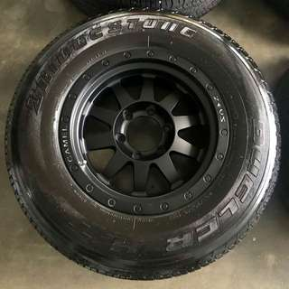 Rim 4x4 Lenso Zeus Camel 16 inch with tyre