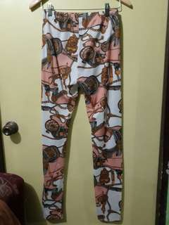 Printed cotton pants