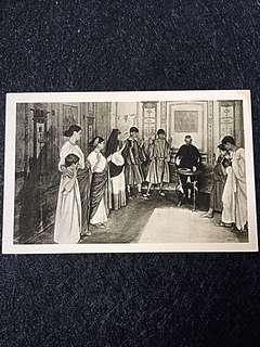 Vintage Postcard Eucharistic Sacrifice Unused
