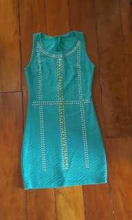 Turquiose blue sleeveless dress