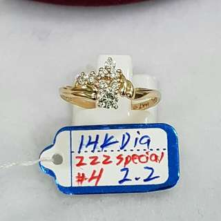 SAUDI GOLD DIAMOND RING, 100% PURE GOLD& DIAMOND.