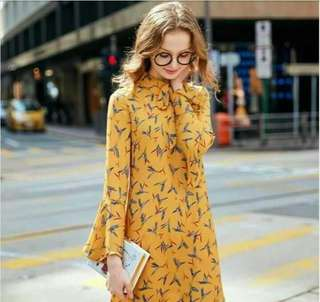Yellow Urban Dress