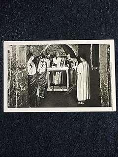 Vintage Postcard Eucharistic Sacrifice in Catacombe Unused