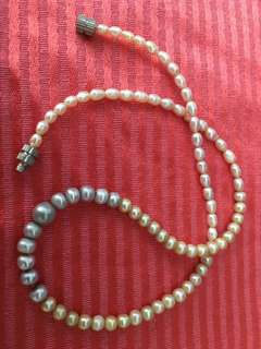 Rice pearl chocker necklace