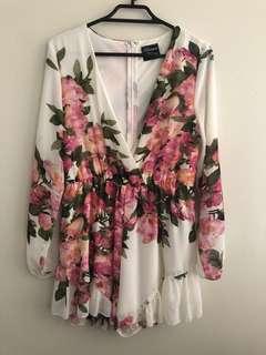Long sleeve Floral playsuit