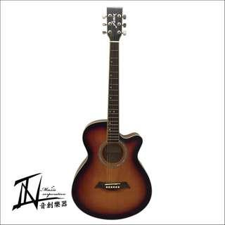 FENIX夕陽漸層合板木吉他
