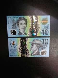 Australia 10 dollars polymer BB prefix