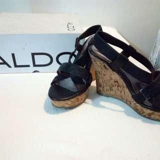 Aldo Black Wedge Heels