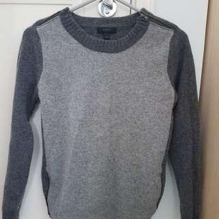 J Crew gray wool sweater, size small