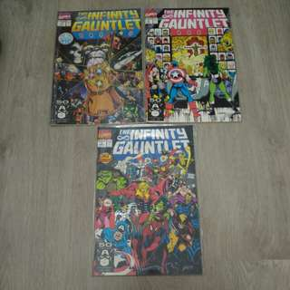 THE INFINITY GAUNTLET #1 2 3