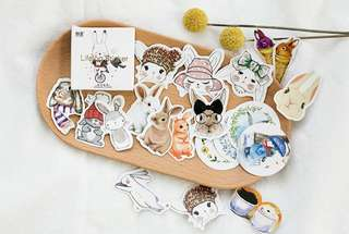 Magical Bunny & Hare Scrapbook / Planner Stickers #98