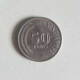 Singapore Old Coin (50 Cents , 20 Cents , 10 Cents)