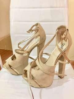 Scene High Heels Gold/Beige