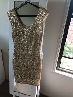 Gold Sequinned Bodycom