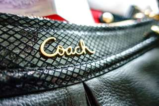 Coach Bag F20114 Ashley Leather Hippie Black Shoulder Sling