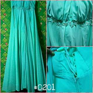 Mint Green Long Infinity Dress