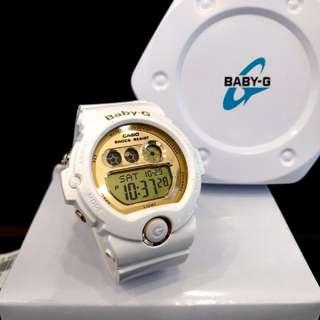 * FREE DELIVERY * Brand New 100% Authentic Casio BabyG White Gold Baby G Digital Ladies Watch Baby-G BG6901 7 BG6901-7DR