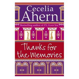 E-book English Novel - Thanks for the Memories by Cecelia Ahern