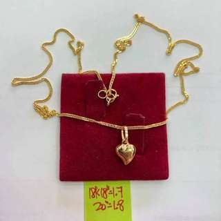 "18k gold necklace 18"""