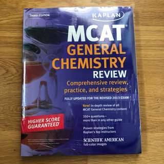 Kaplan's MCAT General Chemistry Review Exam Prep Guide (2013)