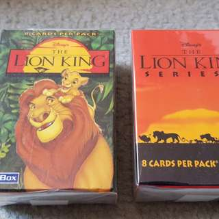 Disney's The lion king trading cards