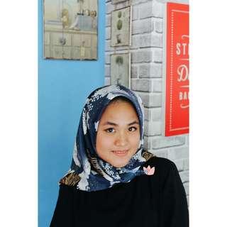 Hijab Wolfis Blue