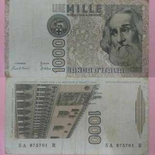 (1982)Italy 1000 Lire