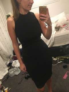 Size small Forever New black dress