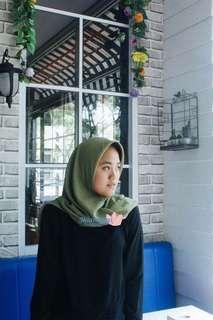 Hijab Pollycotton Bellasquare Medium Green