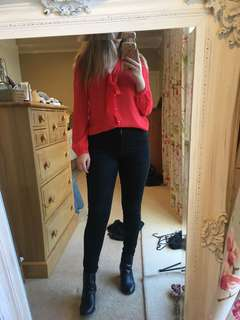 Size 10 red blouse
