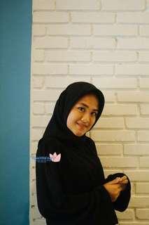 Hijab Pollycotton Bellasquare Black