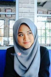 Hijab Pollycotton Bellasquare Grey