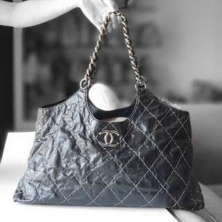 Authentic Chanel Wild Stitch Chain Tote