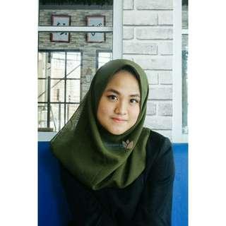 Hijab Pollycotton Bellasquare Dark Green