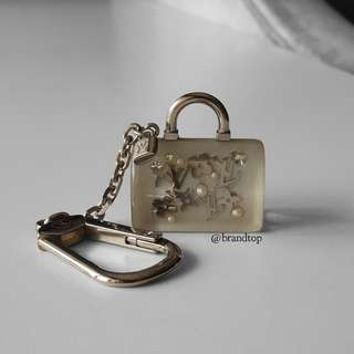 Authentic Louis Vuitton Speedy Bag Charm Key Ring LV