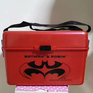 Limited Edition DC Batman & Robin Lunch Box w/ Containers and Bottle Included