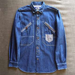 JUNYA WATANABE MAN Comme des Garcons Patchwork Denim Shirt