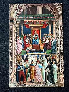 Vintage Postcard Canonization of St Catherine of Siena Unused