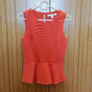 Forever21 Red Peplum Top