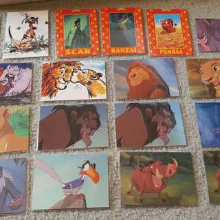 Disney's the lion king trading card inserts