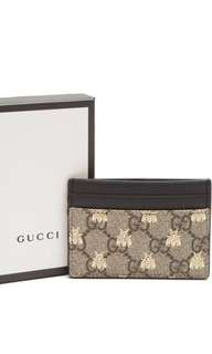 Gucci GG Supreme bees card case card holder 包順豐站 優惠價 只限30-31Mar