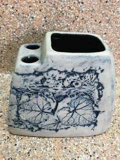 Beautiful hand crafted designer ceramic/ pottery stationery holder
