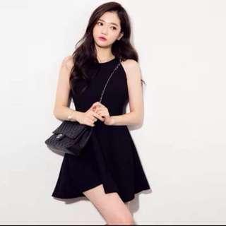 無袖掛脖修身連身裙 Little Black Dress
