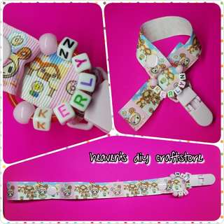 Customized Pacifier Clip with Name