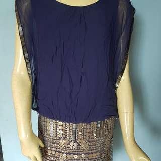 MANGO metal embellished dress
