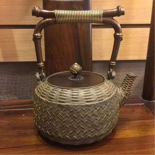 收藏 銀落款 日本 手工 有落款 鐵壺 茶壺 茶葉 茶道