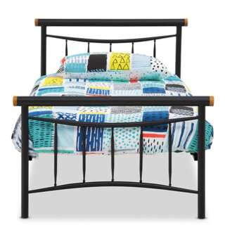 King Single Bed Frame with a Sealy Mattress